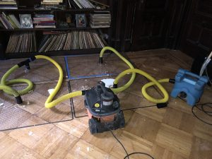 Hardwood restoration water damage
